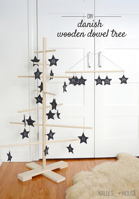 DIY Dansih Wooden Dowel Tree